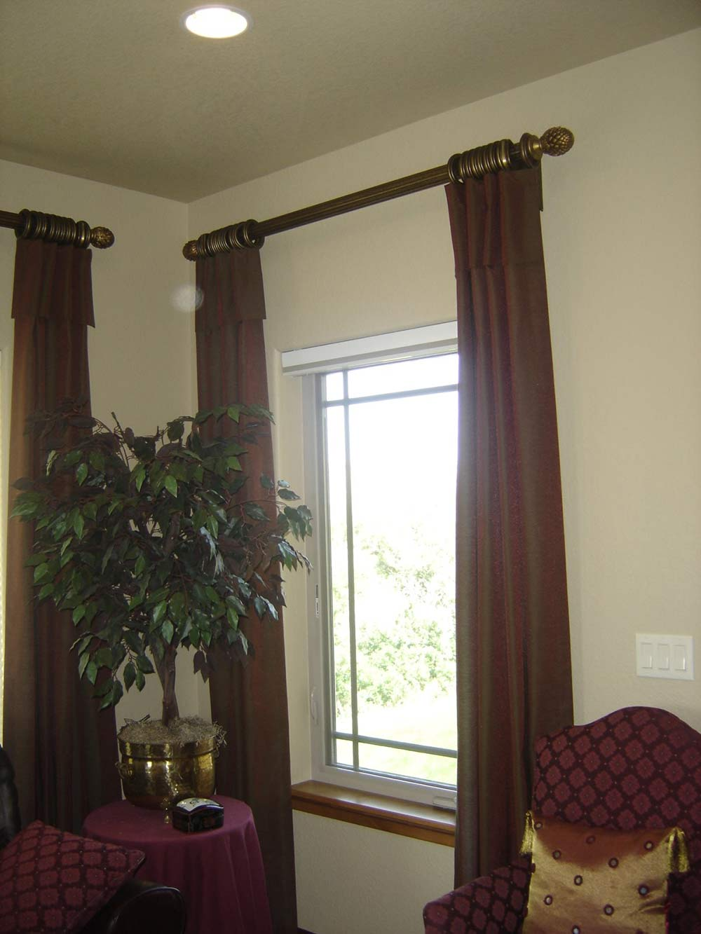 floor-to-ceiling traditional curtains