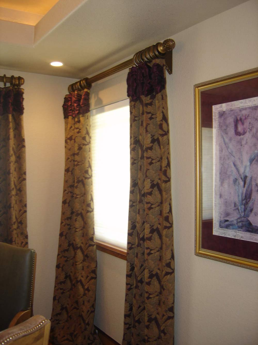 large traditional curtains