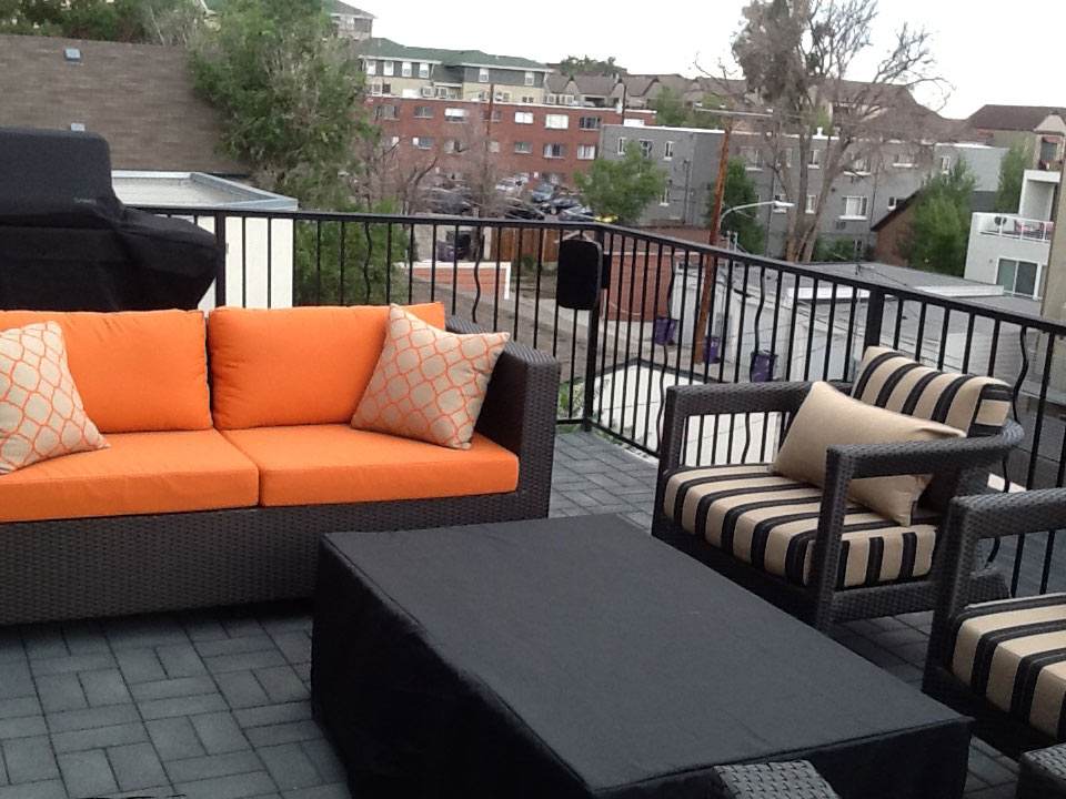 deck with new patio furniture