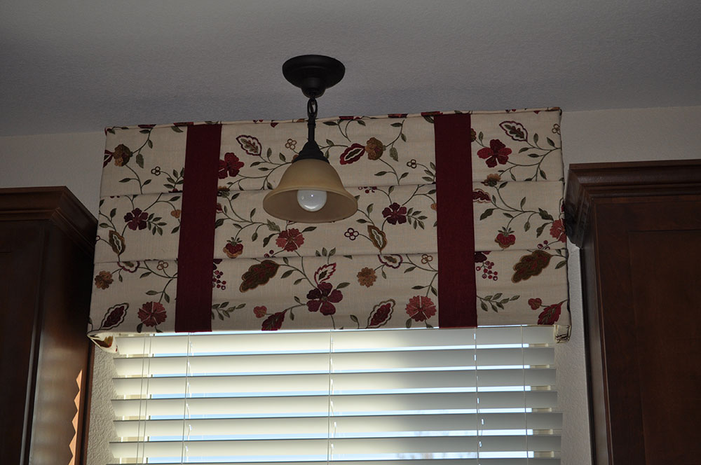 floral window valence