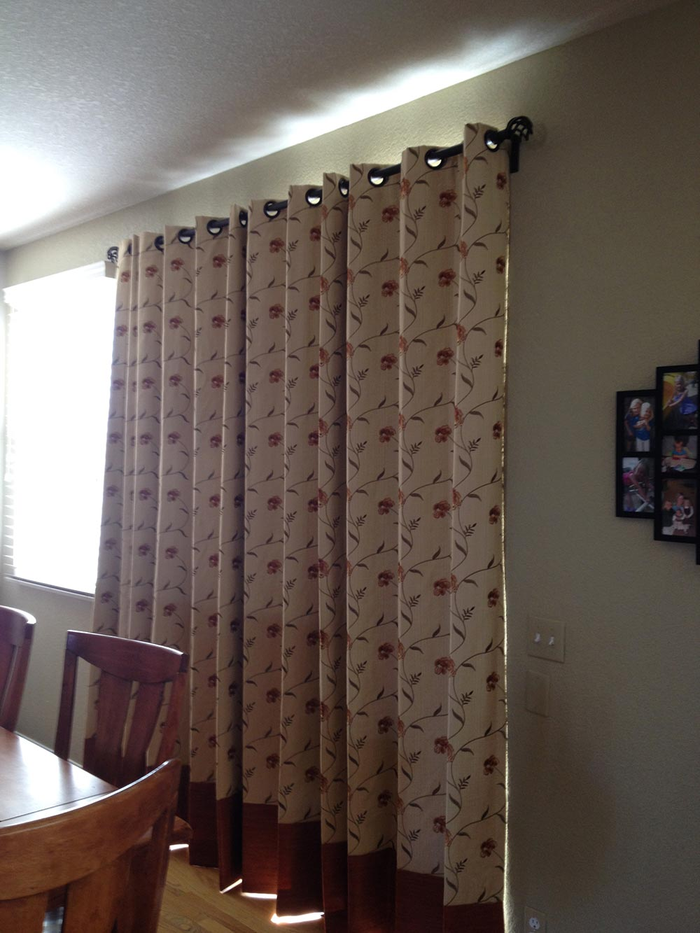 heavy curtains cover large window