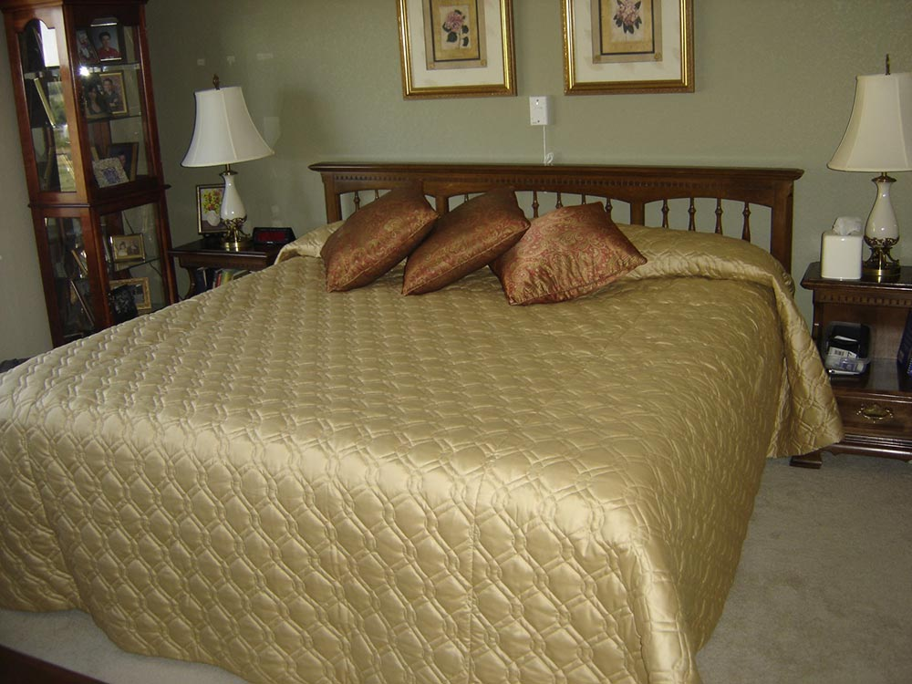 gold bedding