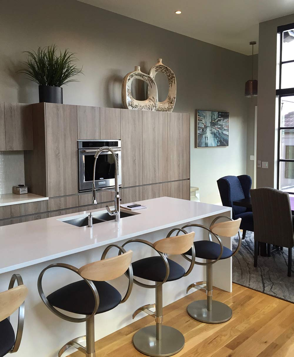 new kitchen with modern accents