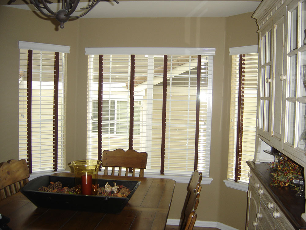dining room with new blinds
